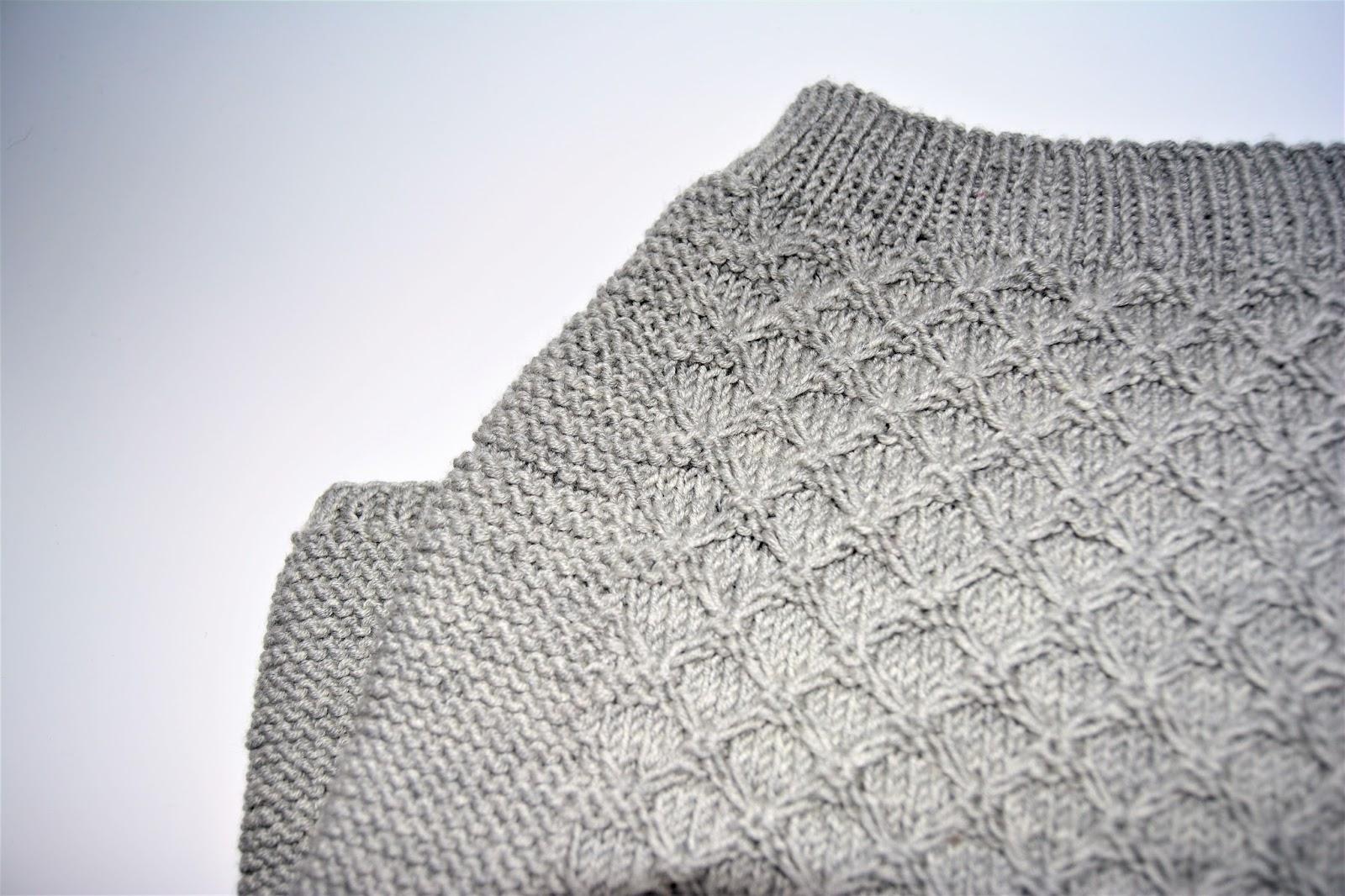 bf4640e6 Kjempefornøyd med resultatet og liker strikkepinnene bedre og bedre: