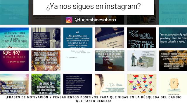 Layout de imágenes de Instagram de #TuCambioEsAhora
