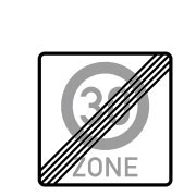 Конец зоны скорости 30 км/ч