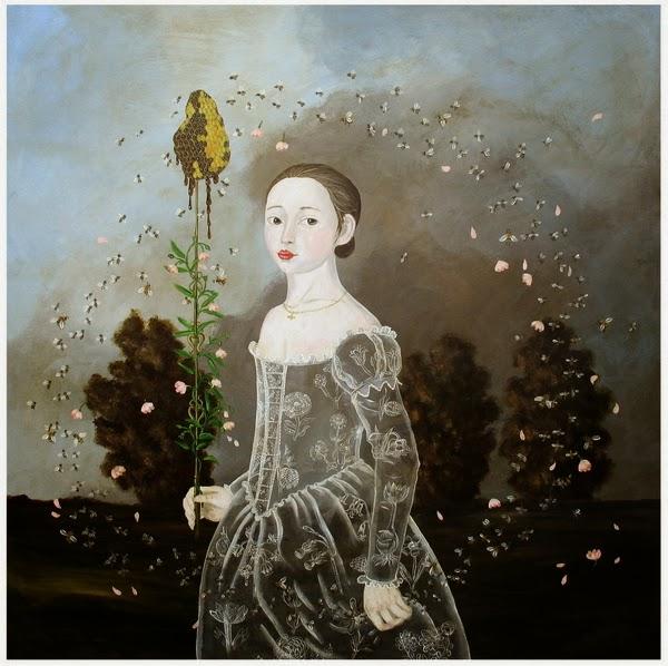 Senhorita Bee - Anne Siems e suas pinturas com figuras transparentes