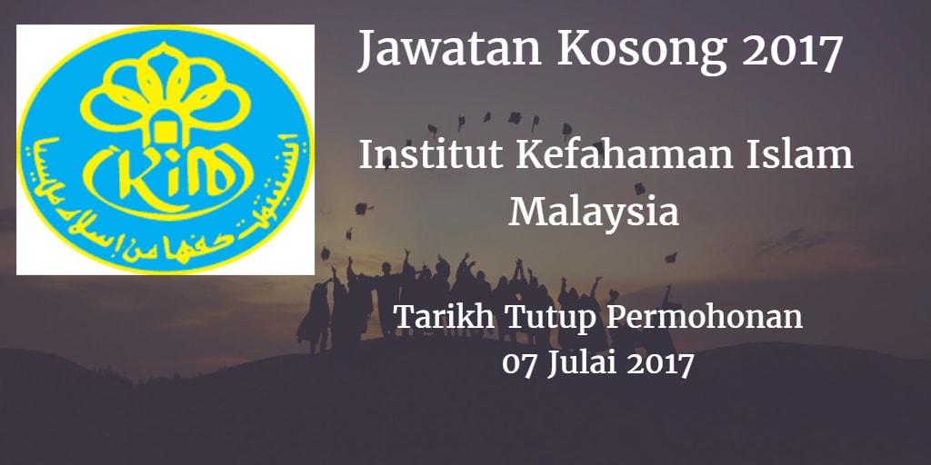 Jawatan Kosong IKIM 07 Julai 2017