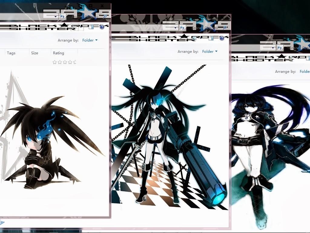 Black Rock Shooter Theme Windows 7 By Yunz | Anime Theme ...