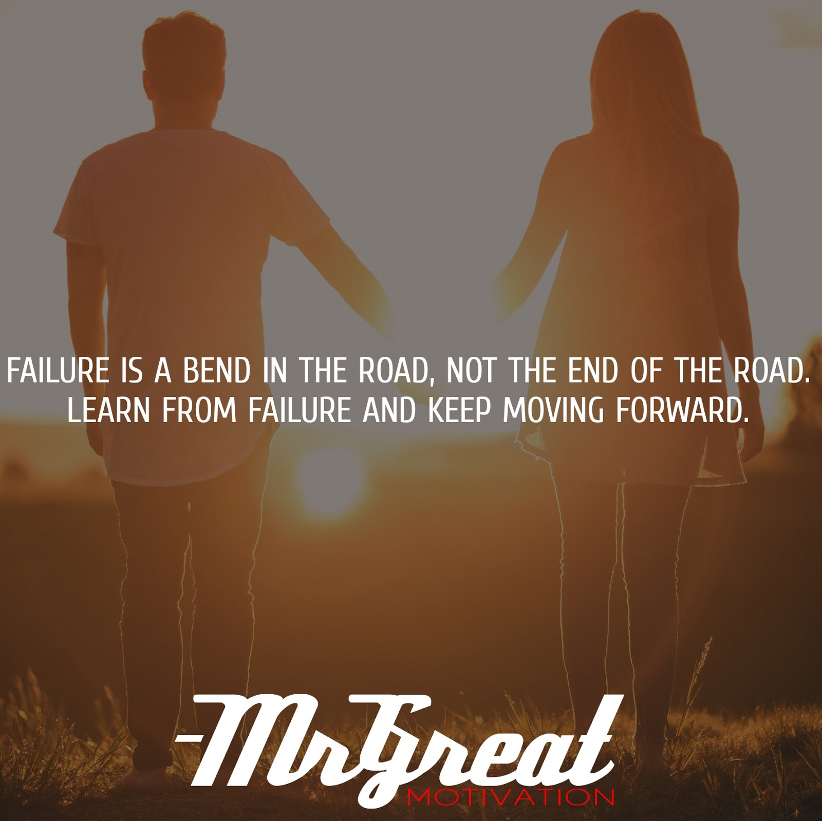 Failure is a bend in the road, not the end of the road. Learn from failure and keep moving forward -Roy T. Bennett