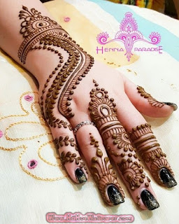 100 latest mehndi designs for girls and beautiful kids mehndi 1 finger mehndi designs thecheapjerseys Image collections