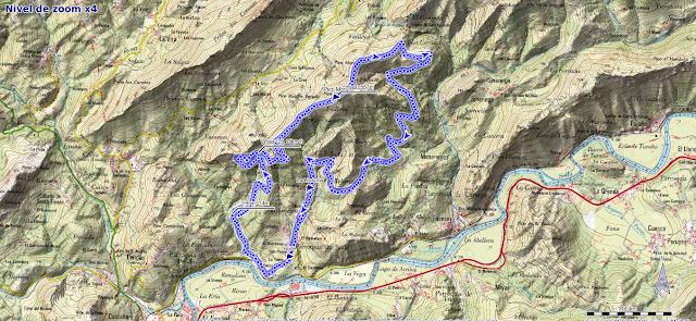 Mapa ruta Bodé Pico Moru