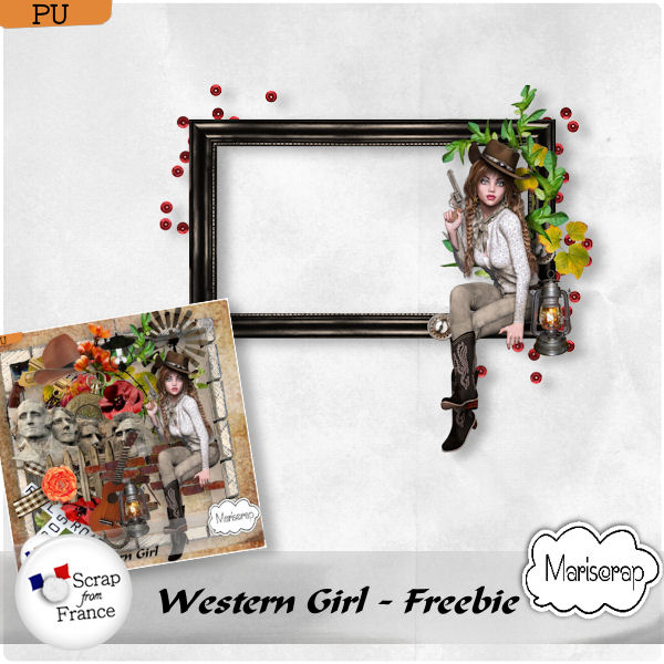 "kit ""Western Girl"" de Mriscrap + Freebie at Scrap From France"
