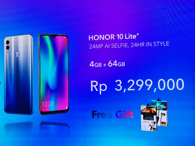 Honor 10 Lite; Smartphone Mantap Untuk Selfie dan Gaming
