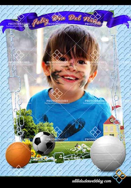 Marco para decorar fotos del dia del niño