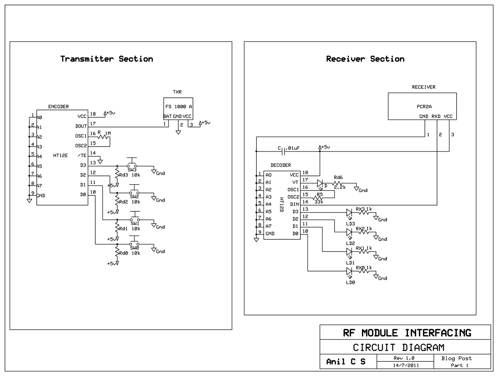 Rf Receiver Module Circuit Diagram Schematics Wiring Diagrams Simple Am Transmitter And Pdf Schematic