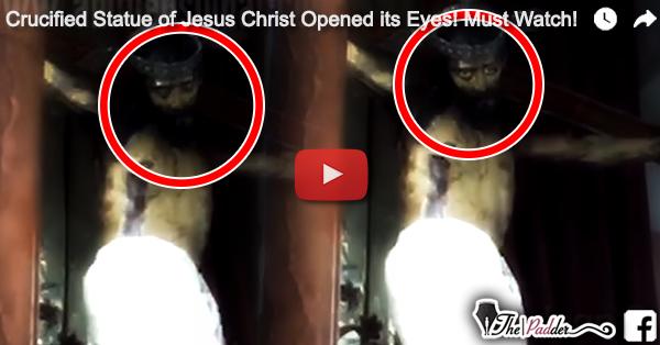 Patung Yesus di Gereja Katolik Meksiko Terekam Sedang Membuka dan Menutup Mata