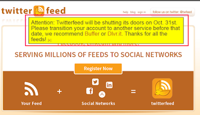 Twitter feed shutting down