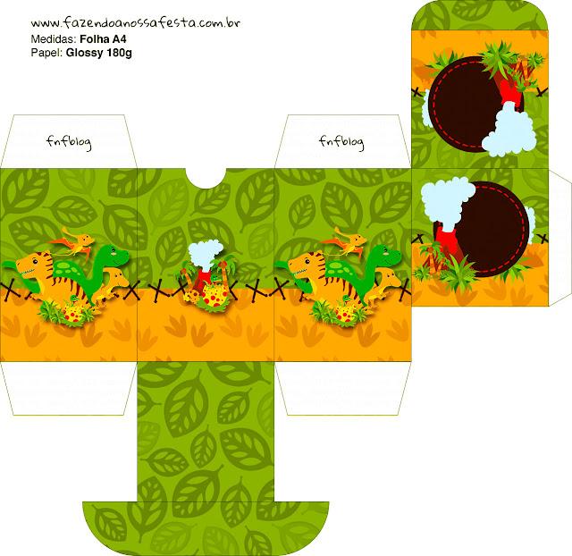 Cajas  para imprimir gratis de Fiesta de Dinosaurios