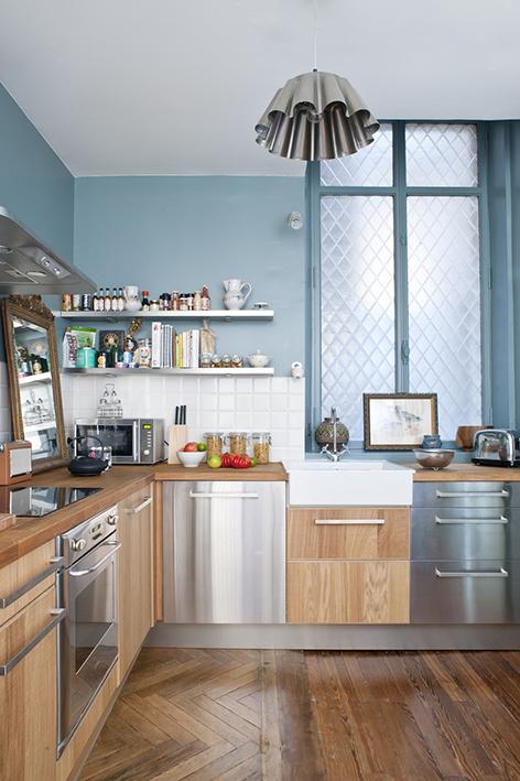 appartement ancien r nov dans un style contemporain blog d co mydecolab. Black Bedroom Furniture Sets. Home Design Ideas