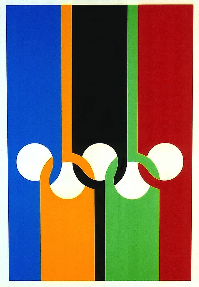 1970 0lympic rings poster