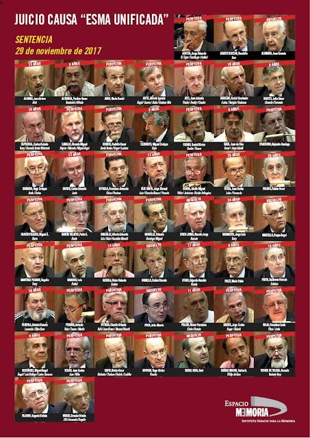 29 perpetuas y otras 19 condenas