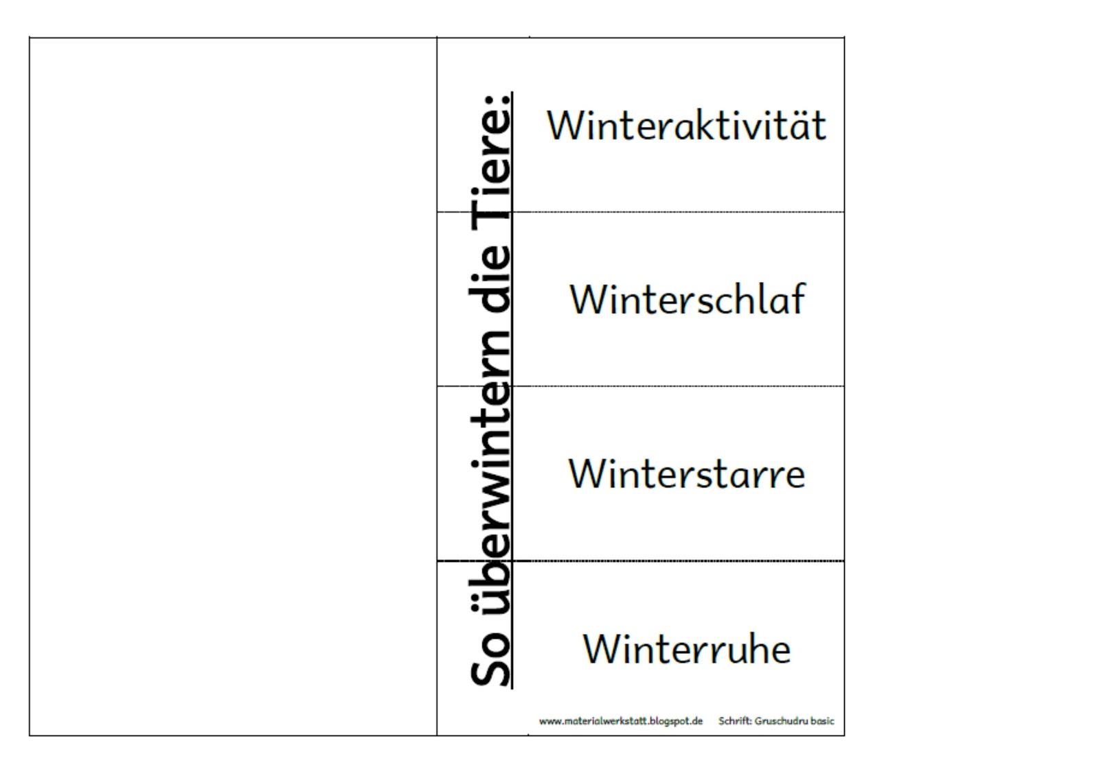 materialwerkstatt lapbook winter. Black Bedroom Furniture Sets. Home Design Ideas