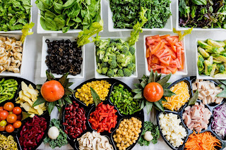 salad bar with vibrant veggies