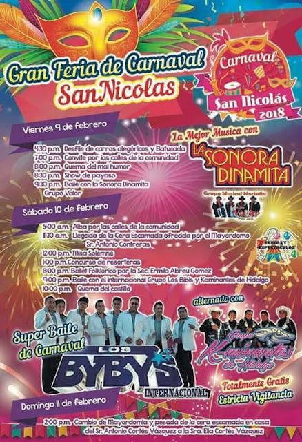 Carnaval san nicolás izmiquilpan 2018