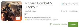 Modern Combat 5 Blackout Game Android Terbaik