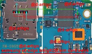 Samsung G925F S6 Edge Conector Sim Chip