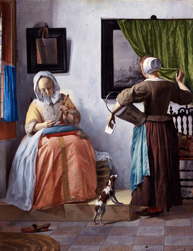 Gabriel Metsu Женщина читает письмо