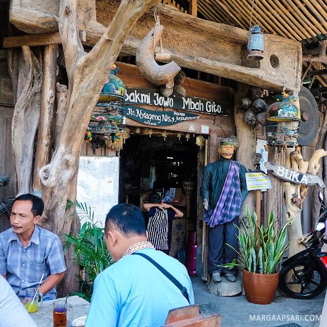 Tampak depan Bakmi Jawa Mbah Gito, Yogyakarta