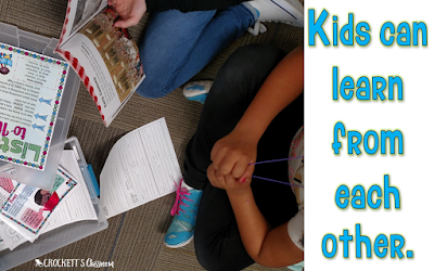 Reading with a partner is a great way for kids to focus on specific reading strategies. Read this blog post to learn about the literacy centers I couldn't live without in my upper elementary classroom.