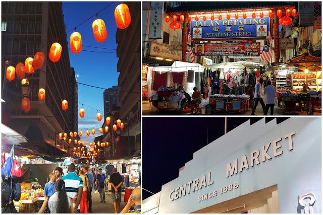 Chinatown y Central Market en Kuala Lumpur, Malasia