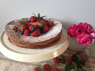 pastel de chocolate sin harina ni lactosa