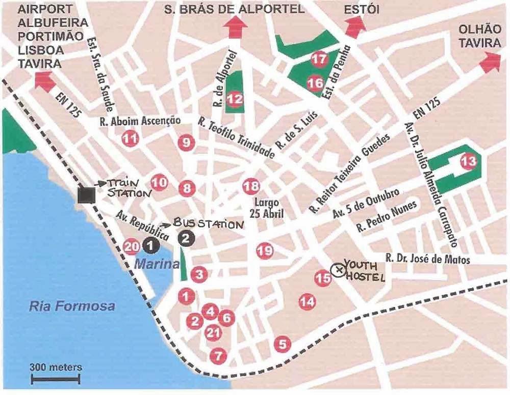 mapa de faro portugal Mapas de Faro   Portugal | MapasBlog mapa de faro portugal