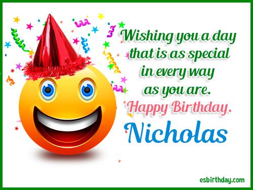 happy birthday nicholas Happy Birthday Nicholas   Happy Birthday images for Name happy birthday nicholas