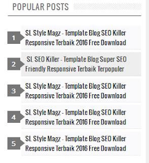 Modifikasi Desain Widget Populer Post di Sidebar Blog