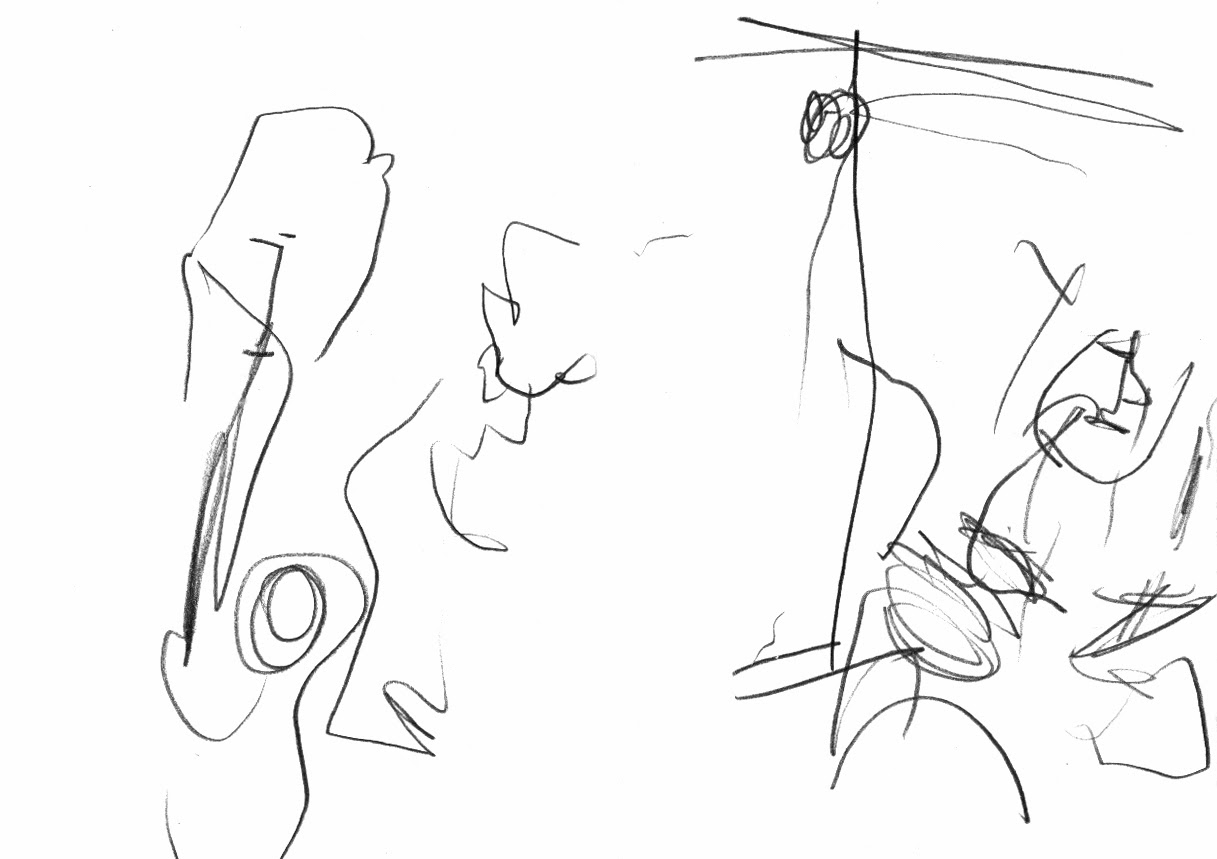The apophonics at cafe oto john butcher john edwards gino robair drawing by geoffrey winston © 2013 all rights reserved
