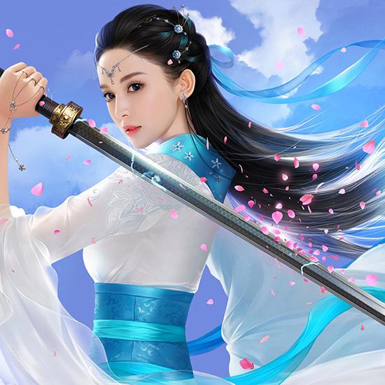 Fantasy Chinese Swordswoman Wallpaper Engine
