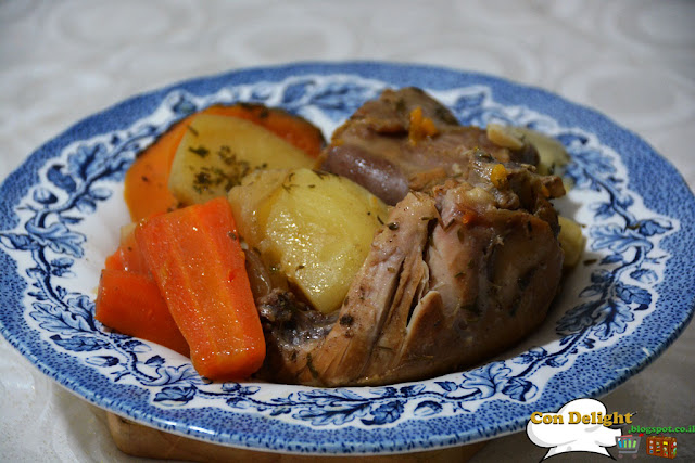 chicken and root vegetables
