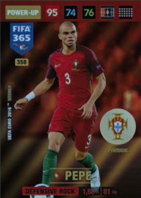 PANINI FIFA 365 cards 2017-44-Portugal-Winners-Uefa Euro 2016 Winner