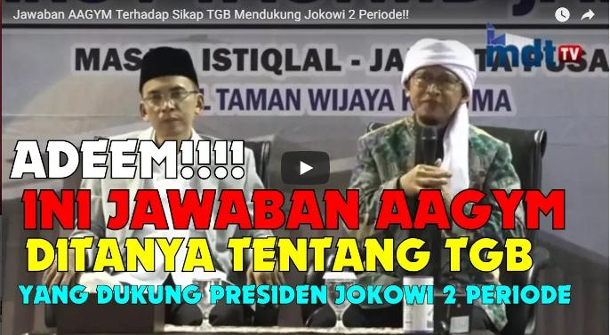 Video Cara Elegan Aa Gym Menasehati TGB Yang Dukung Jokowi 2 Periode