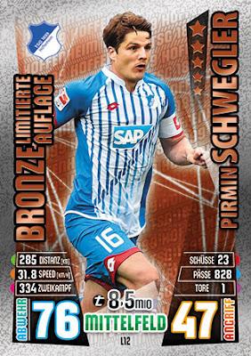 Topps Bundesliga Sticker Nr 260 Limitierte Auflage Saison 2015 2016