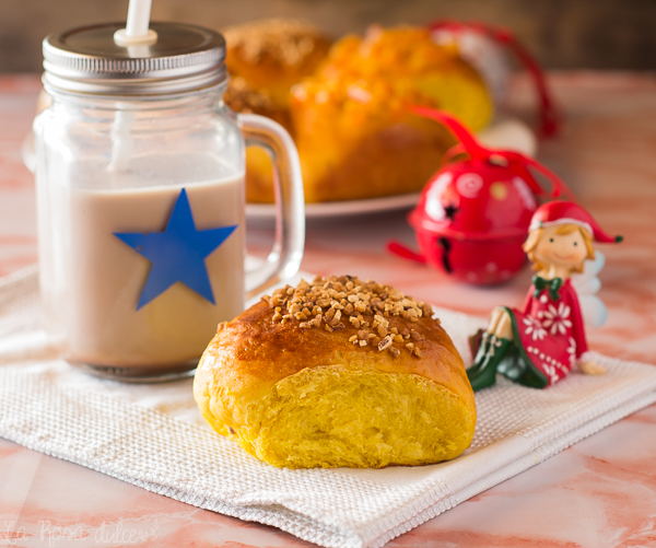 Roscón de Reyes de calabaza fácil y esponjoso #sinlactosa #navidad