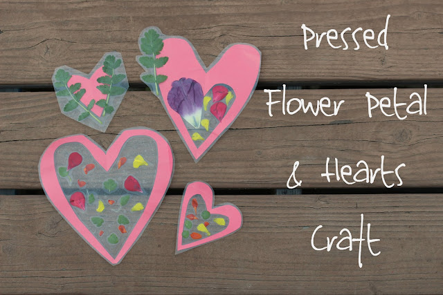 Be brave keep going pressed flower petal hearts craft - Crafts with flower petals ...