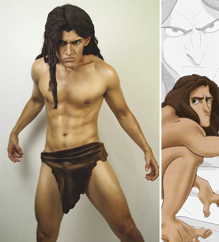05-Tarzan-Jonathan-Stryker-Body-Paint-Cosplay-Transforms-into-Animations-and-Cartoons-www-designstack-co
