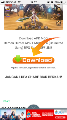 Cara download Game Di Gilaandroid.com