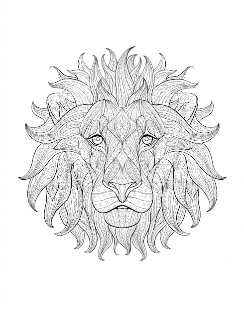 Coloriageadulteafriquetetelion Decal Africa Color Page Adult