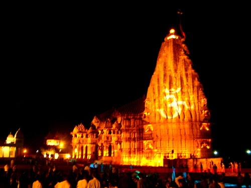 Somnath Temple at night