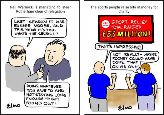 Cartoons: Warnock & Sport Relief