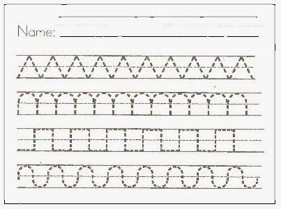 kindergarten handwriting pages