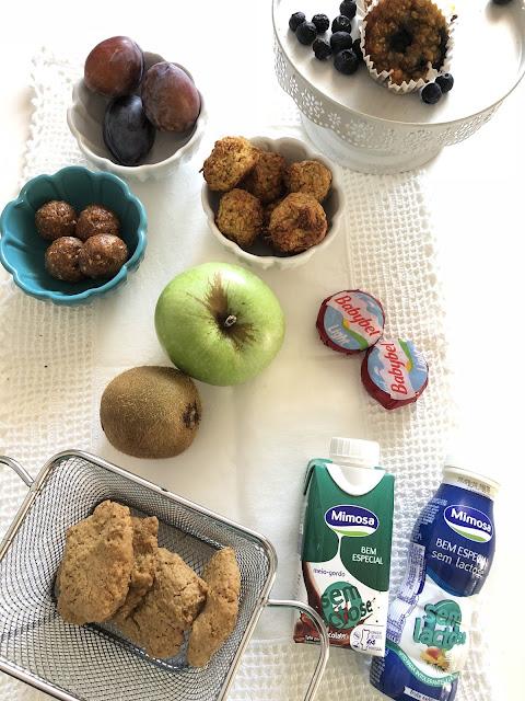lanches para as crianças, mimosa sem lactose, baby bell, bimby, bolas energéticas, bolachas de aveia, bolas de granola.