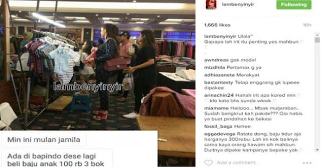 Beli Baju Rp 100 ribu Dapat 3, Mulan Jameela Malah dihujat Netizen