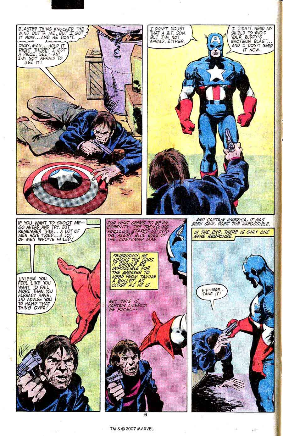 Captain America #253 marvel 1980s bronze age comic book page art by John Byrne