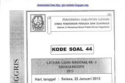 SOAL TPM SMP/MTs KABUPATEN SLEMAN (22-23 Januari 2013) ALL MAPEL